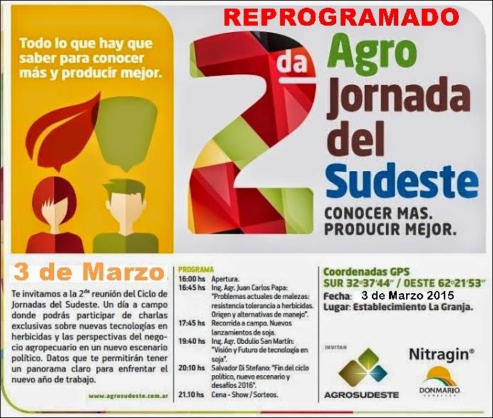 ESPACIO PUBLICITARIO: 2da AGRO JORNADA DEL SUDESTE