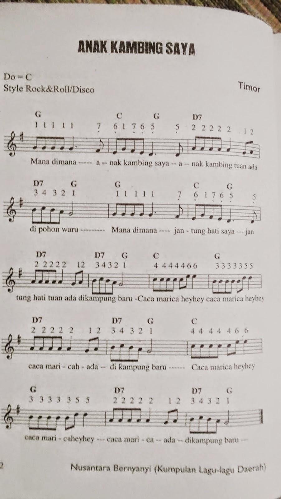 lirik lagu daerah
