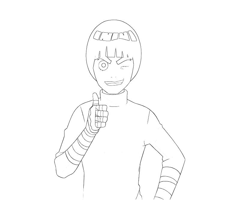 naruto rock lee smile how coloring