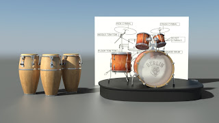 Drum Section rendered with iray