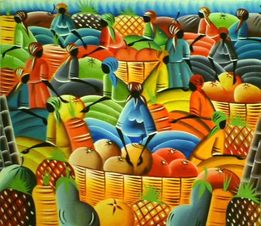 Haitianarts quadro mercato frutta