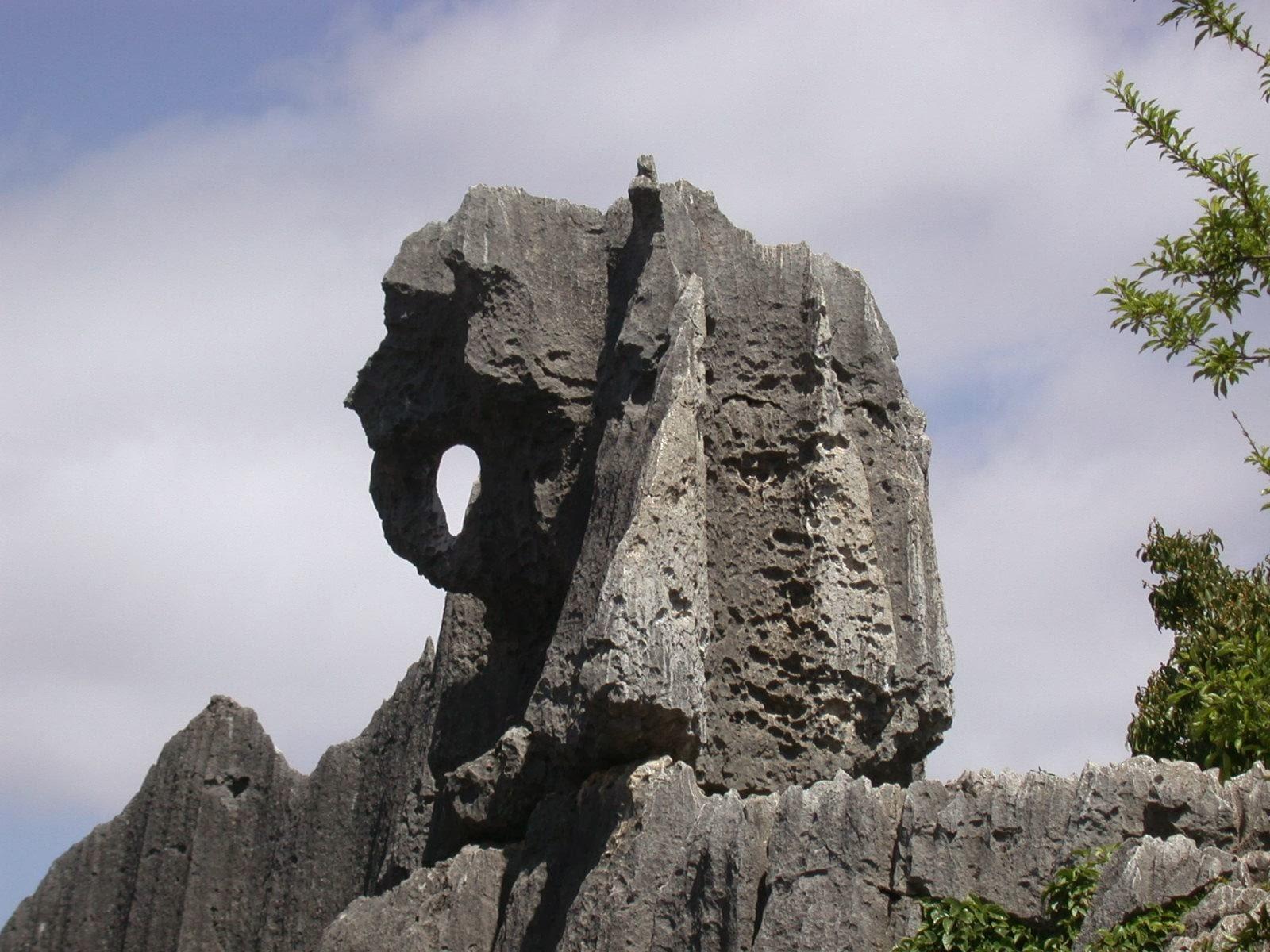 penampakan batuan raksasa yang menyerupai gajah