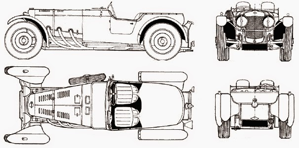 Blog of Perilous Art Endeavor +2: Old sports car in perspective!