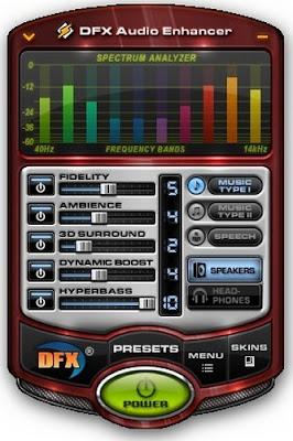 تحميل برنامج تضخيم الصوت Download DFX Audio Enhancer