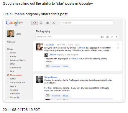 Display Your Latest Google+ Update on WordPress