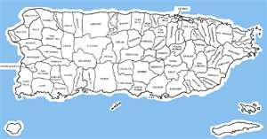 Mapa politico de Puerto Rico