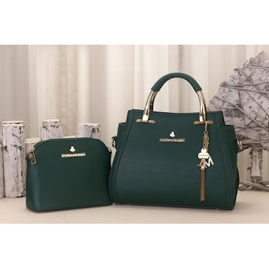 JESSICA MINKOFF BAG (2 IN 1 SET) - GREEN