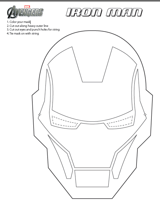 iron man face mask template - fashion and action last minute avengers opening costumes