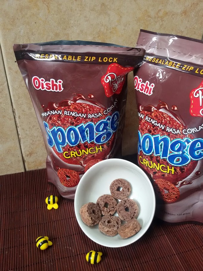Oishi Sponge Crunch, enak