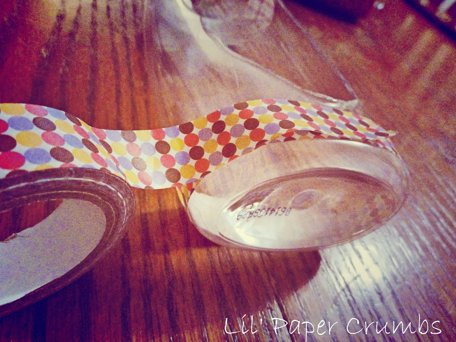 Q-tip holder: Decorate your bottle - Lil' Paper Crumbs
