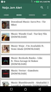 New Music on Naija Jam Alert app