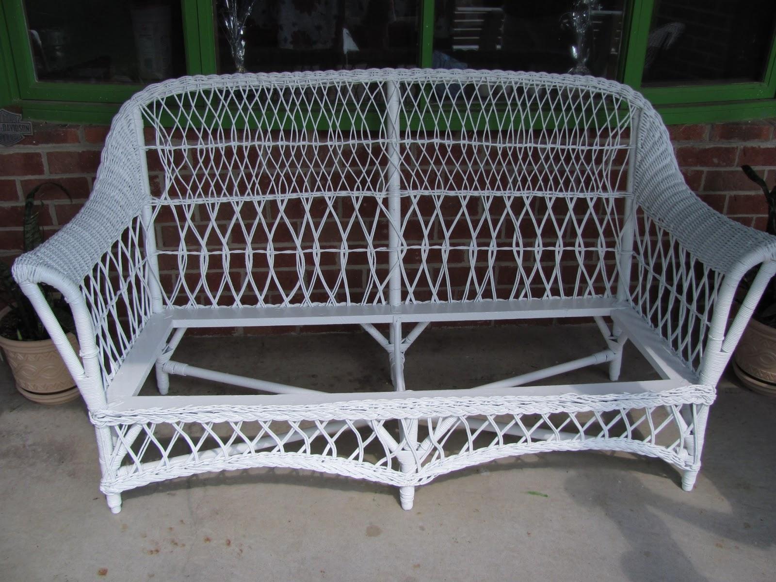 Antique Wicker/Rush Cane Sofa Restoration