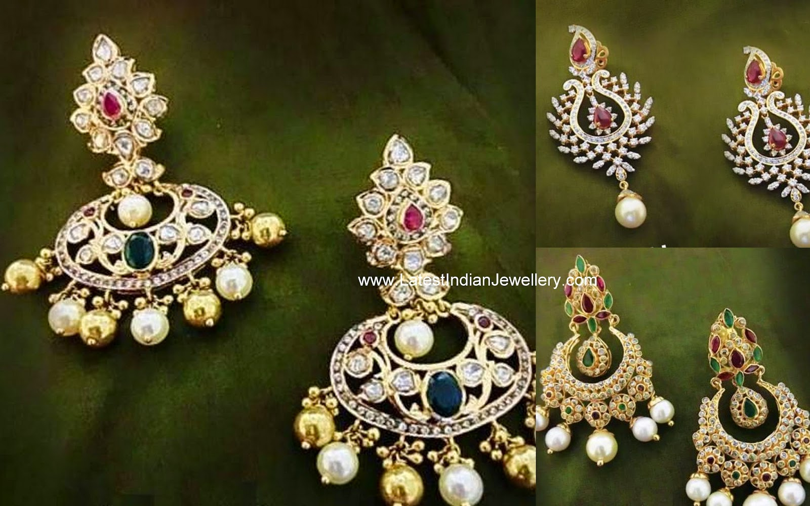 latest diamond chandbali earring designs