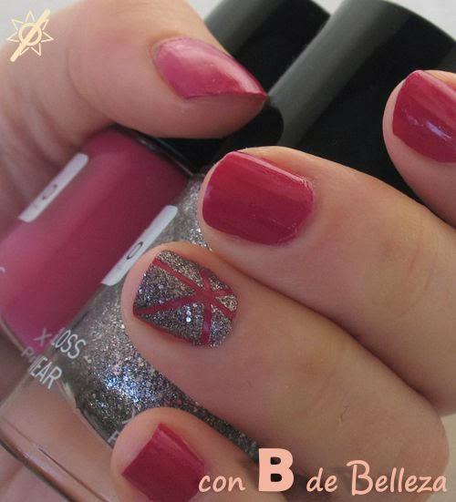 Estrella brillante uñas Nail art