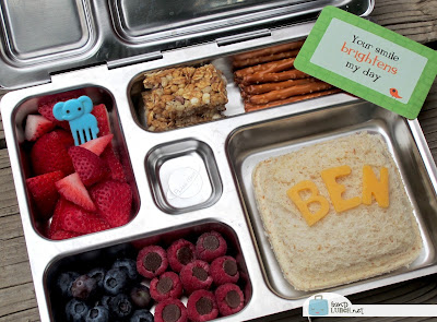 BentoLunch.net - First Day of School Bento in Our PlanetBox