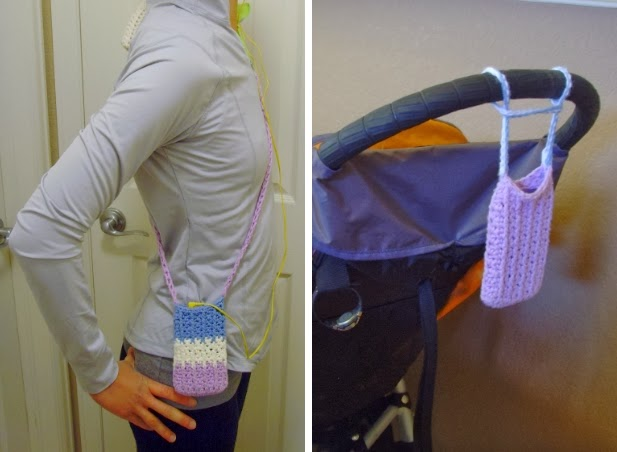 Smartphone cozy for jogging with a stroller