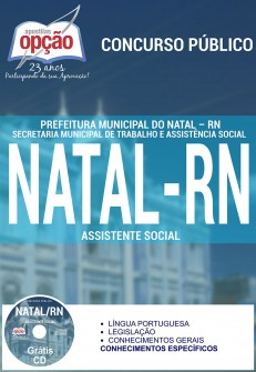Apostila Concurso Prefeitura de Natal - RN - Assistente Social - 2016