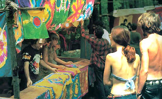 tie-dyed t-shirt woodstock