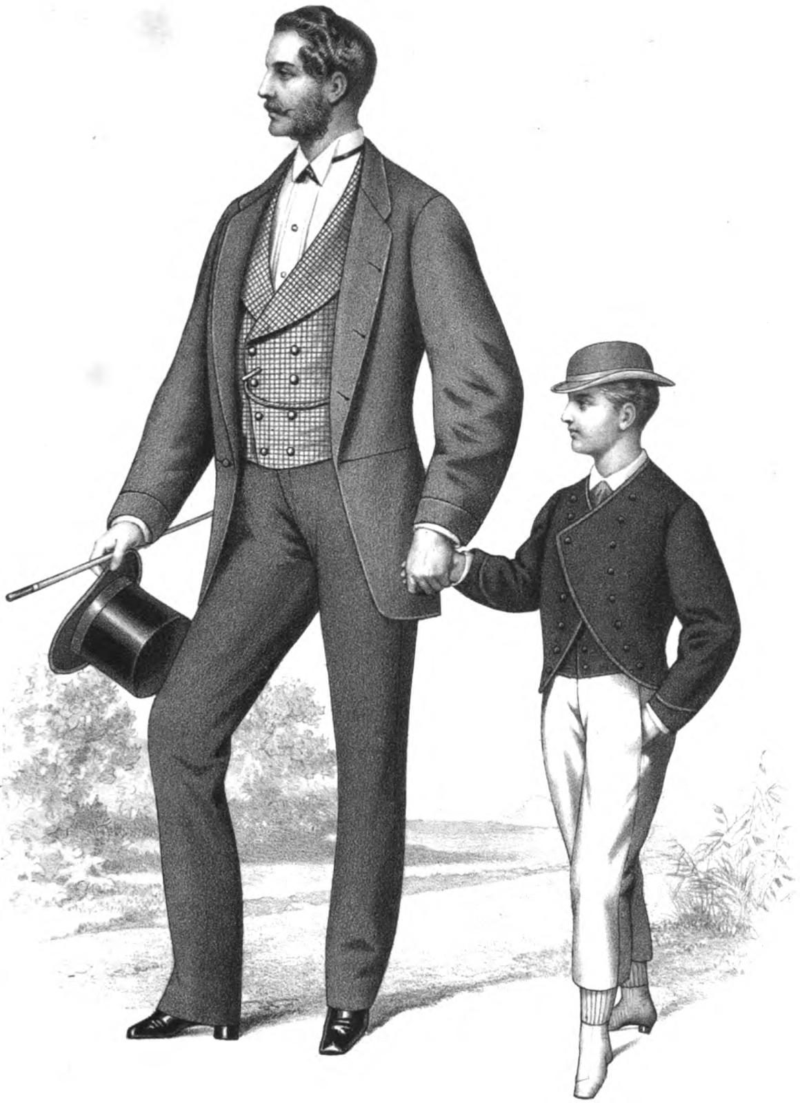 1868 Men's Fashions   1868-1889: Victorian ...