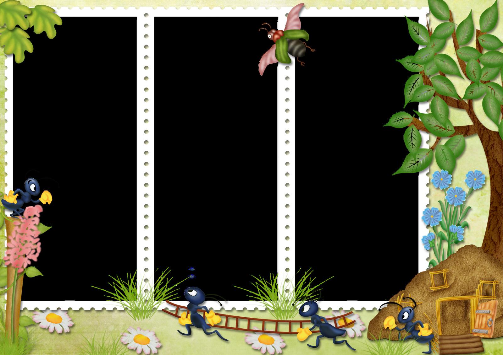 20 frames PNG para fotos de crianças com animais.Fundo transparente.