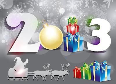Wallpaper y papel tapiz del año nuevo 2013