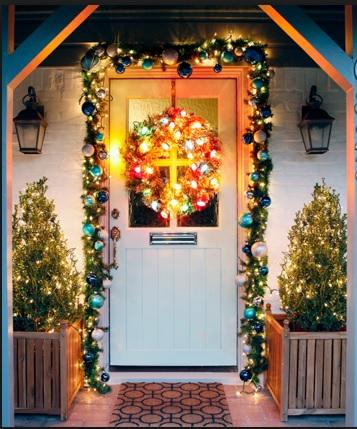 Diseños de puertas navideñas, como decorar puertas en navidad, como decorar la puerta en navidad, decoracion de puerta navideña