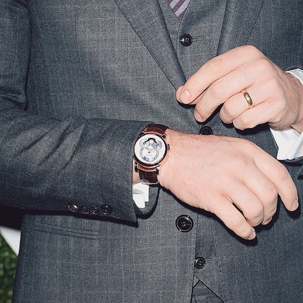 Chris Pratt wears Montblanc Nicolas Rieussec Chronograph watch timepiece at GQ Men Of The Year Awards Los Angeles 4th December 2014