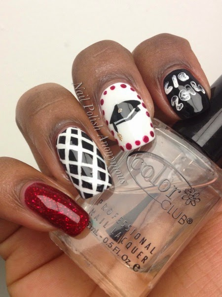 Nail design ideas for graduation nails look it s carina view images nail prinsesfo Images