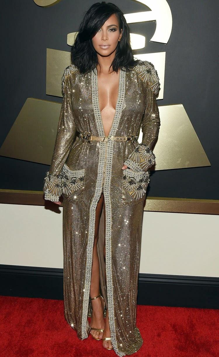 Kim Kardashian Grammy's 2015