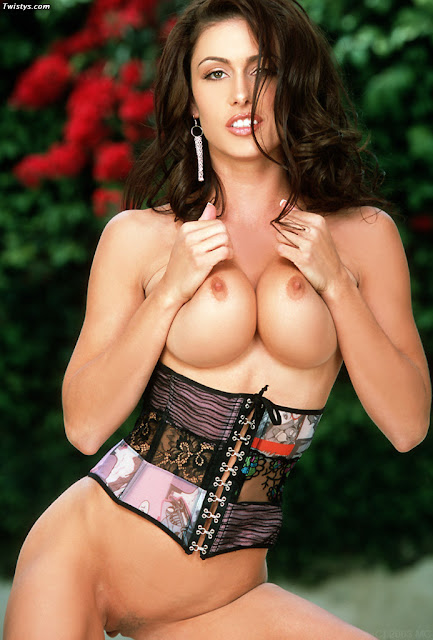 Corset busty babes