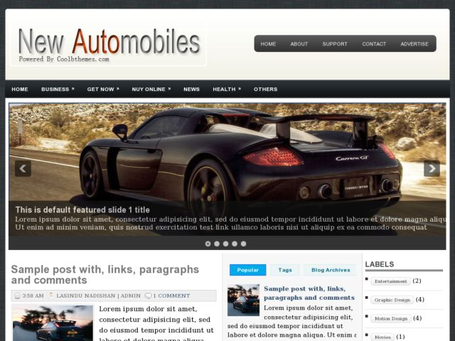 New Automobiles Blogger Template
