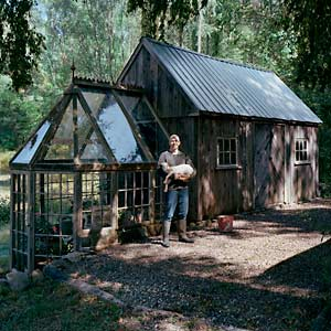 The Art Of Up-Cycling: DIY Greenhouses, Build A Green House From Windows, Doors and A Little ...