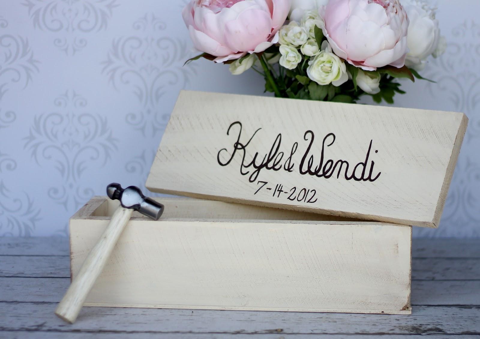 Morgann Hill Designs: Personalized Wine Box Shabby Chic Time Capsule ...