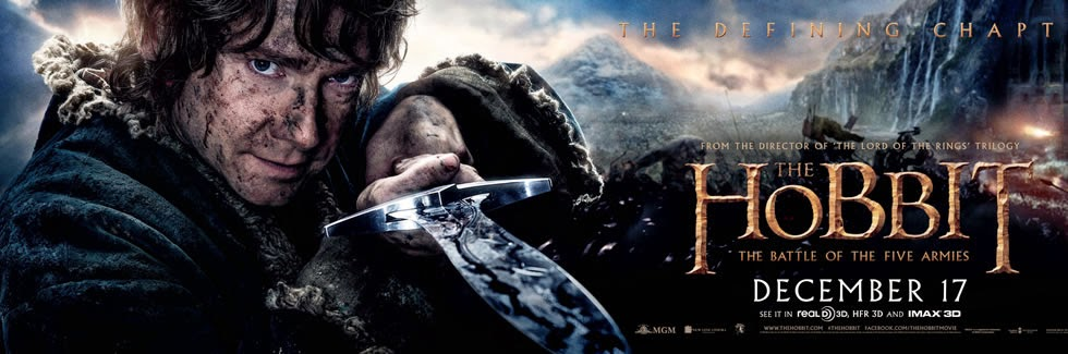 El Hobbit 3: La Batalla de los Cinco Ejercitos Movie Poster