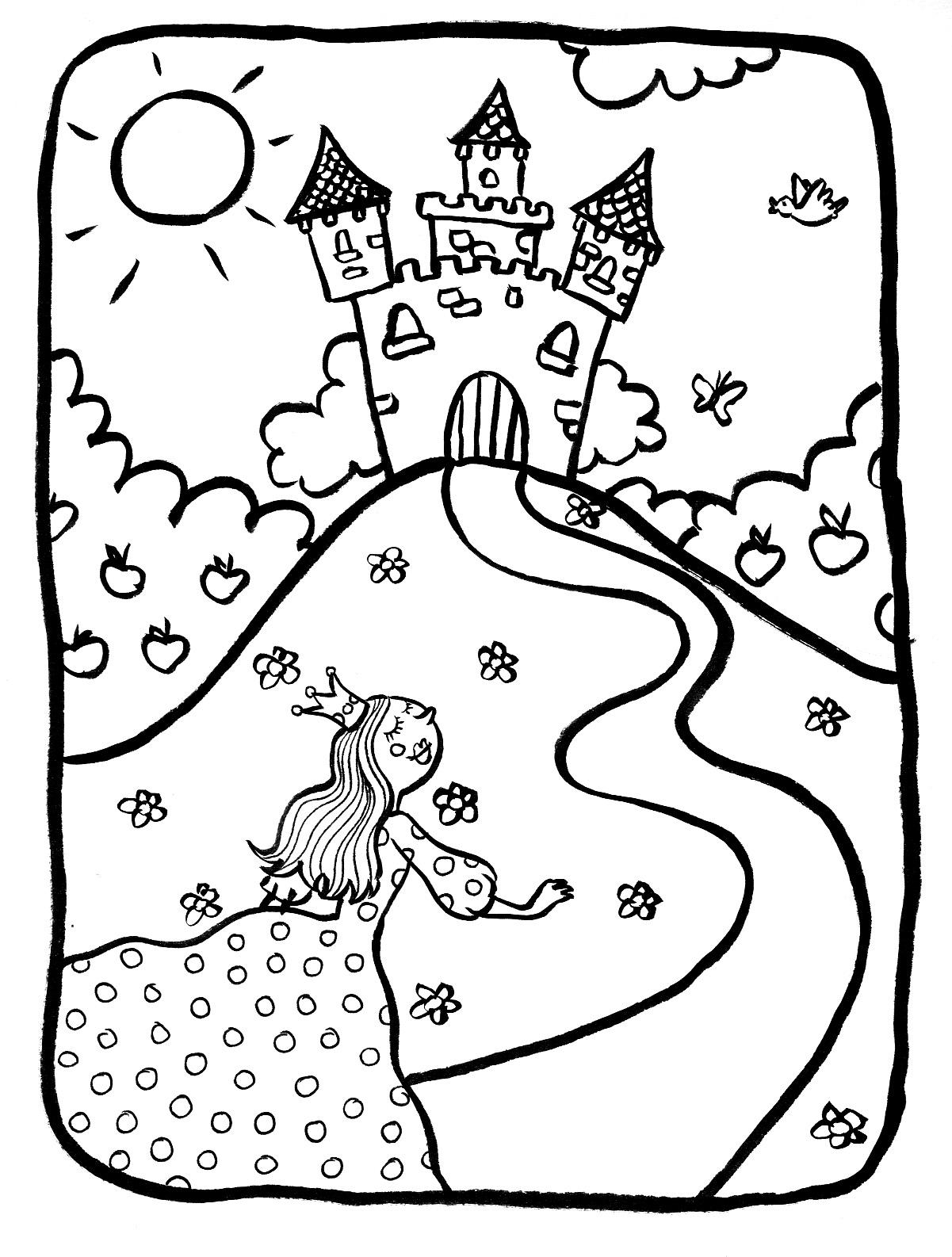 Marion de castillon avril 2011 - Coloriage de chateau ...