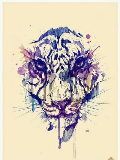 beautiful tiger tattoo