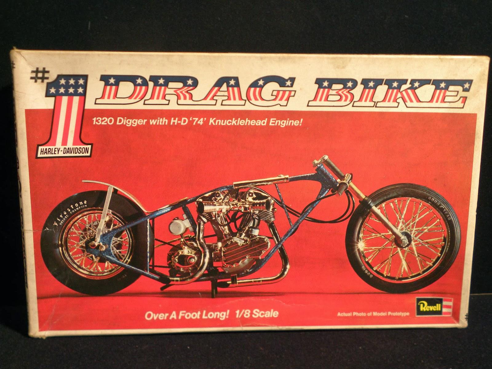 Nostalgia On Wheels Revell Harley Knucklehead 1 Drag Bike Model Kit