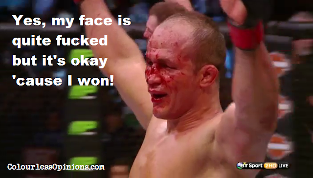 Junior dos Santos bloodied face Miocic UFC on Fox 13