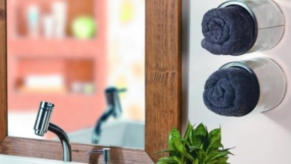 10 ideias criativas e úteis para móveis e objetos: porta toalhas compacto para banheiro.