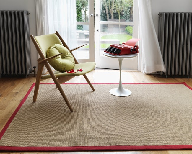 Red Linen Rug