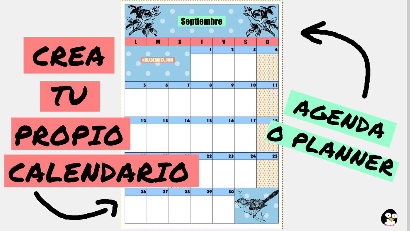 C mo hacer calendarios personalizados planner mensual o - Como hacer tu propio calendario ...