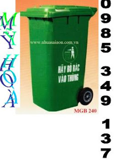 thùng rác 120L, 240L, thùng rác nhựa, thùng rác công nghiệp 0985 349 137