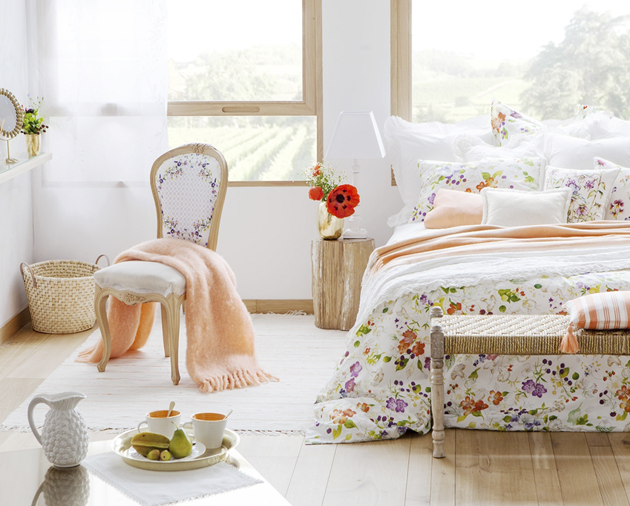Chicdeco blog soft summer bedrooms in peach and white - Dormitorios zara home ...