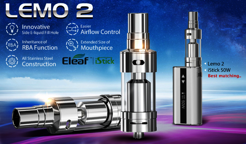 Lemo 2 Atomizer matching with iStick 50W