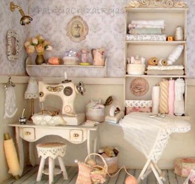 Patricia cruzat artesania y color cuadro cuarto de for Muebles de costura