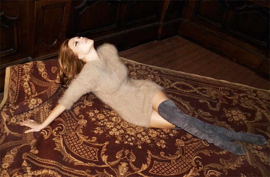 French actress Léa Seydoux in NET-A-PORTER's The Edit