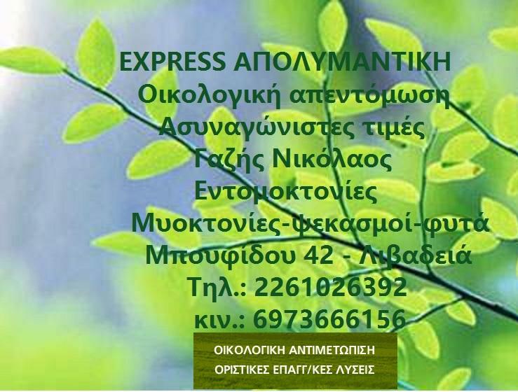 EXPRESS ΑΠΟΛΥΜΑΝΤΙΚΗ- ΝΙΚΟΣ ΓΑΖΗΣ