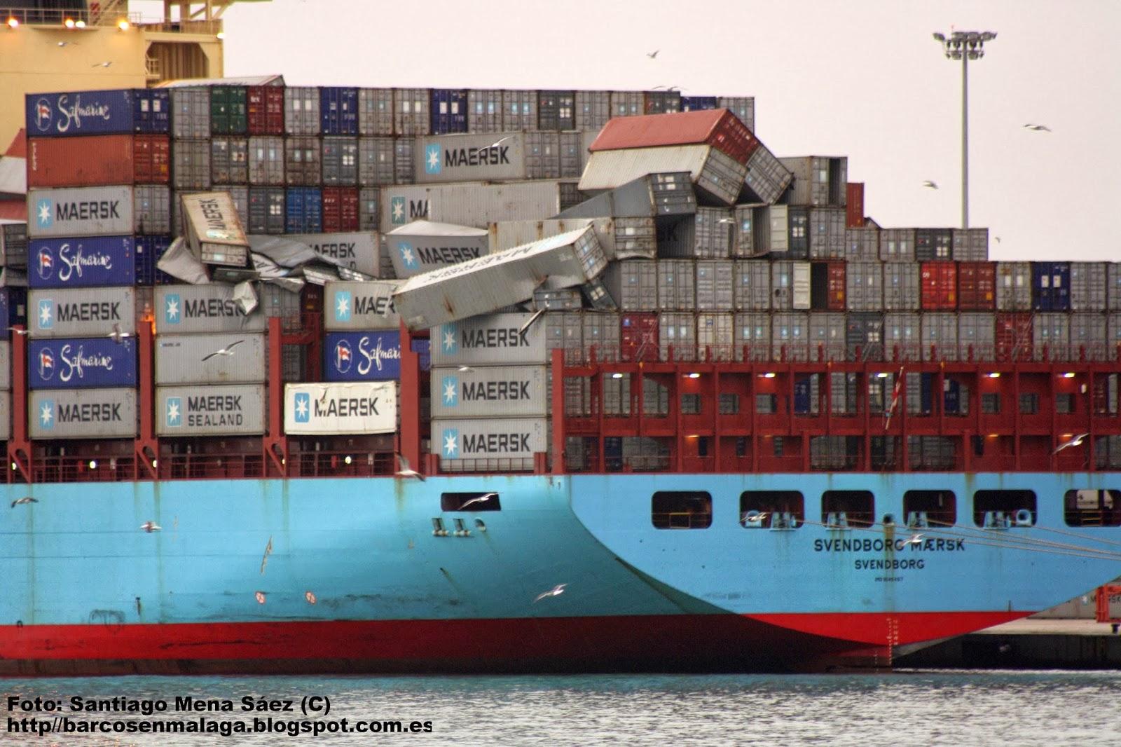 Barcos en m laga svendborg maersk incidente con la carga - Contenedores de barco ...