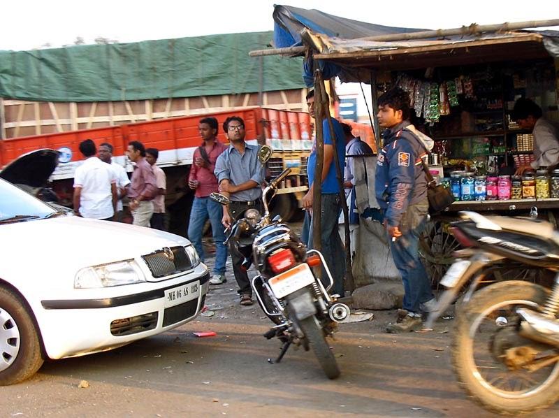 Men outside a tea shop