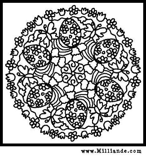 Easter  Coloring Pages on Free Printable Mandala Coloring Pages Easter Eggs And Spring
